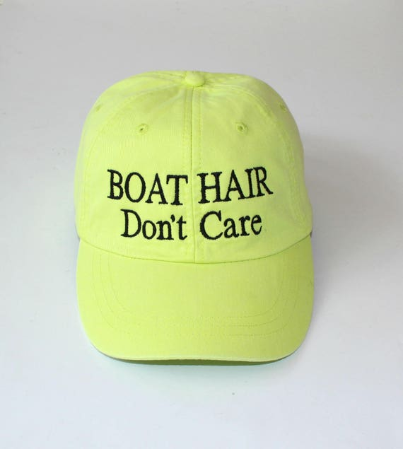 BOAT HAIR Don t Care Hat Adams Hat Custom Quote  6926323a476f