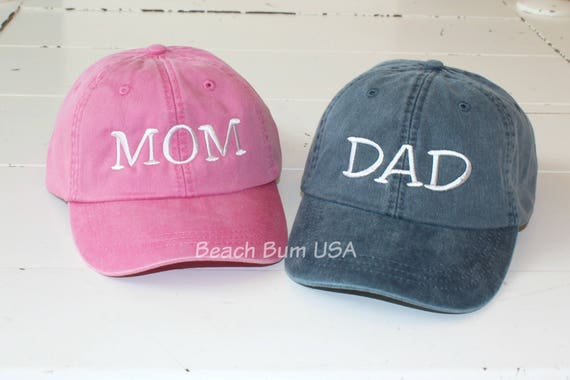 MOM and DAD Hats Set of 2 Adams Caps Pregnancy Announcement  4c29137b1811