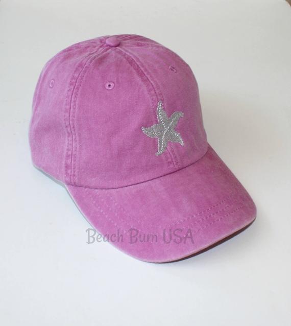 Stocking Stuffer For Women Monogram Baseball Cap Raspberry  8c5ff071ce55