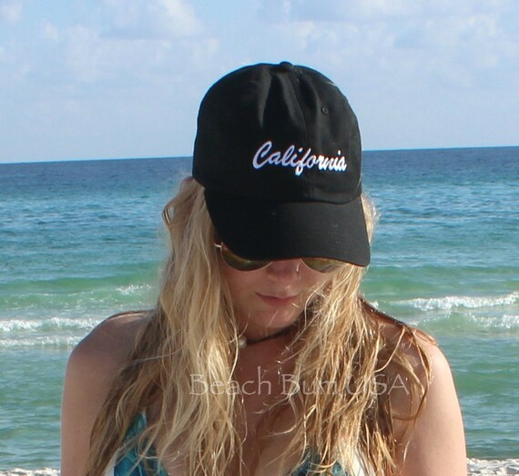 California Baseball Caps Personalized State Custom Embroidery Hat bio washed