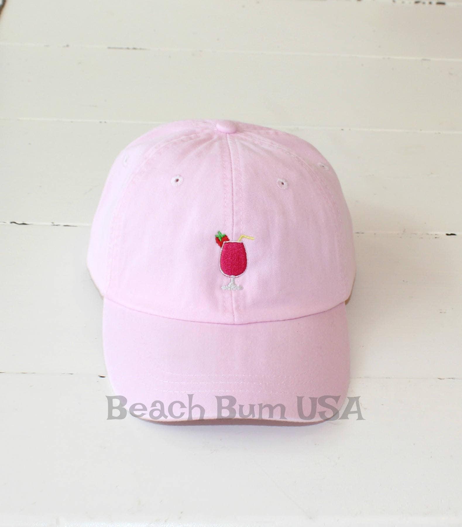Pink Baseball Cap Strawberry Daiquiri Embroidered Hat  73fba4641e6a