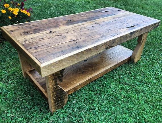 Reclaimed Chestnut Coffee Table Ready To Ship | Etsy