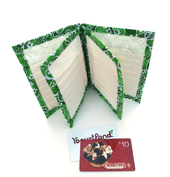 Wallet Credit Card Holder Organizer With 36 Slots Cotton Etsy