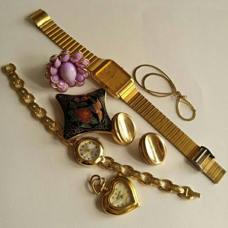 Craft lot of vintage jewelry watches Seiko parts