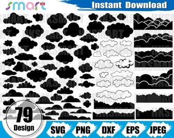 56 Cloud Svg Cloud Design- Sky Png Rain Svg Weather Svg Cloud Clipart Rain Cloud Svg Cloud Silhouette Sky Svg Cloud Cut File