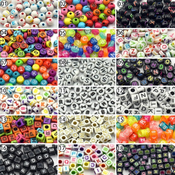 100pcs Mixed Color Acrylic Plastic Smooth Round Ball Loose Spacer Beads 7*7mm