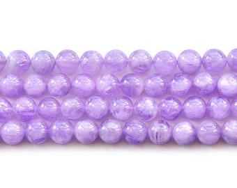 Natural Purple Jade Round Loose Gemstone Beads 15.5'' Strand 6mm 8mm 10m 12mm