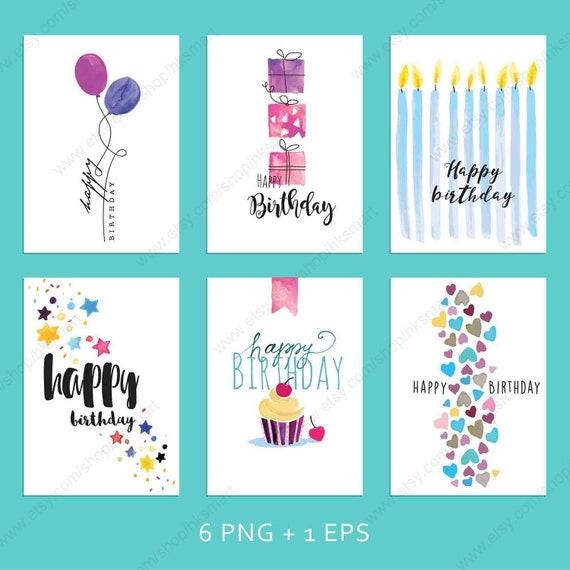 Hksmart Beautiful Happy Birthday Card Download Digital Greeting Gift Cards Printable Birthday Cards 6 Designs Sr06