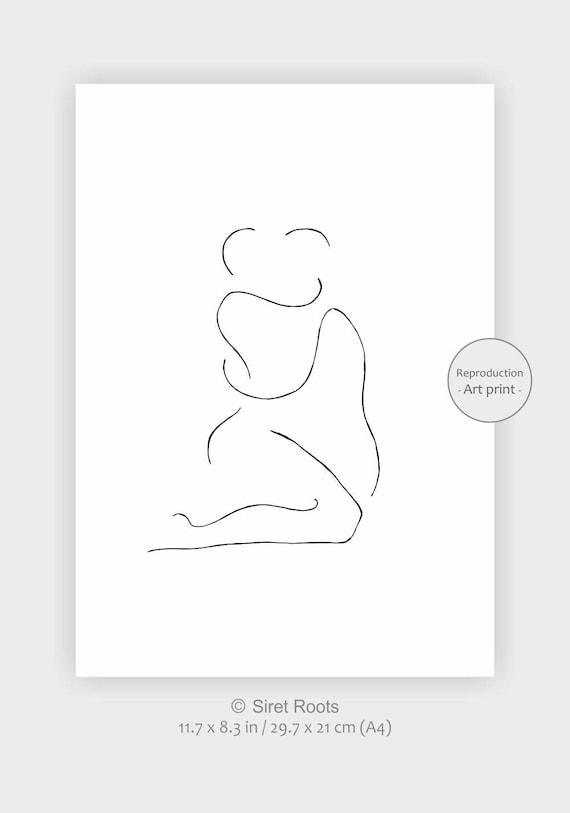 Schwarz und weiß erotische Schlafzimmer Kunstdruck.