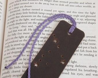 Capricorn Bookmark, Zodiac Leather Bookmark, Constellation Gift, Star Sign Bookmark, Bookworm Gift, Horoscope Bookmark, Birthday Bookmark