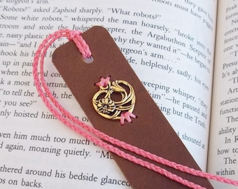 Personalized Leather Bookmark, Floral Heart Leather Bookmark, Heart Anniversary Gift, Calla Lily Accessories, Bookworm Gift, Lovers Gift
