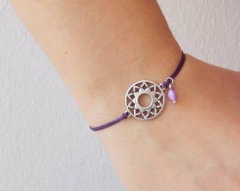 Crown Chakra Bracelet, Dainty Yoga Bracelet, Birthstone Yoga Bracelet, Sahasrara Wish Bracelet, Chakra Dainty Bracelet, Wish Yoga Bracelet