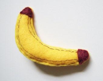 Cute Felt Banana Brooch