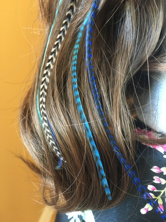 UK Clip in Hair Feather 14 inch Extension Choice of Colour