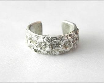 earcuff flower 925 sterling silver