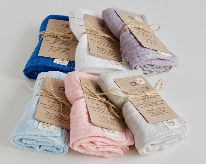 Naturally Dyed Organic Cotton Double Gauze Burp Cloth