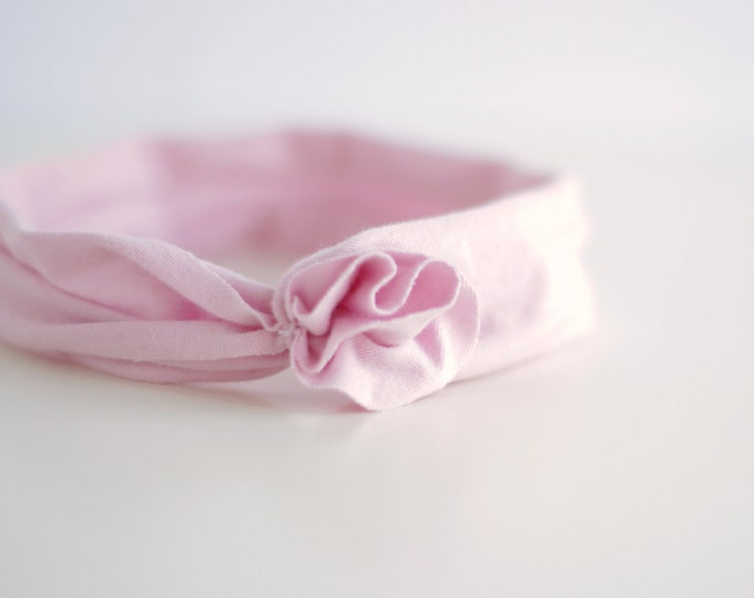 No Elastic Baby Headband in Naturally Dyed Organic Cotton