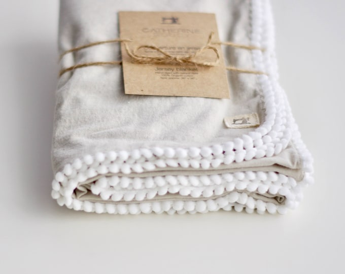 Naturally Dyed Organic Cotton Jersey Receiving Blanket