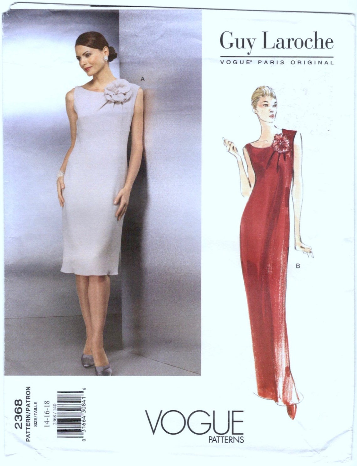 1990s Guy Laroche cocktail or evening dress pattern by Alber Elbaz? - Vogue 2368