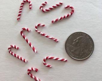 Miniature Candy Canes for Dollhouse OR Crafting