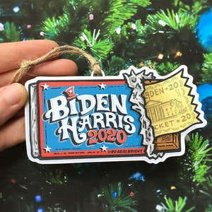 christmas laser wood file glowforge biden laser wood Glowforge ready  Biden ornament +topper christmas topper