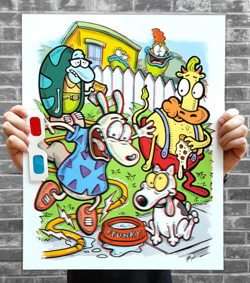 Rocko's Modern Life  3D Poster w/ Glasses  3D Anaglyph image 0