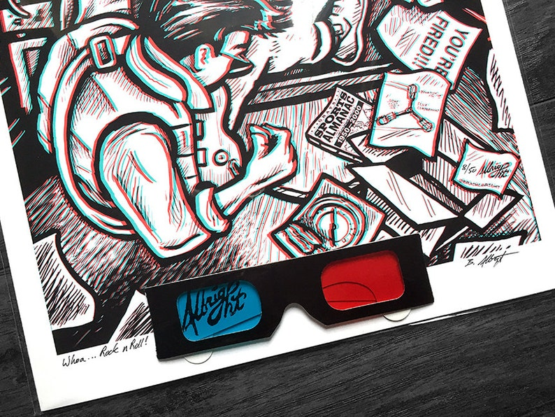 Rock n/' Roll Back to the Future Marty McFly Exploding Speaker 3D Print with Glasses Whoa..