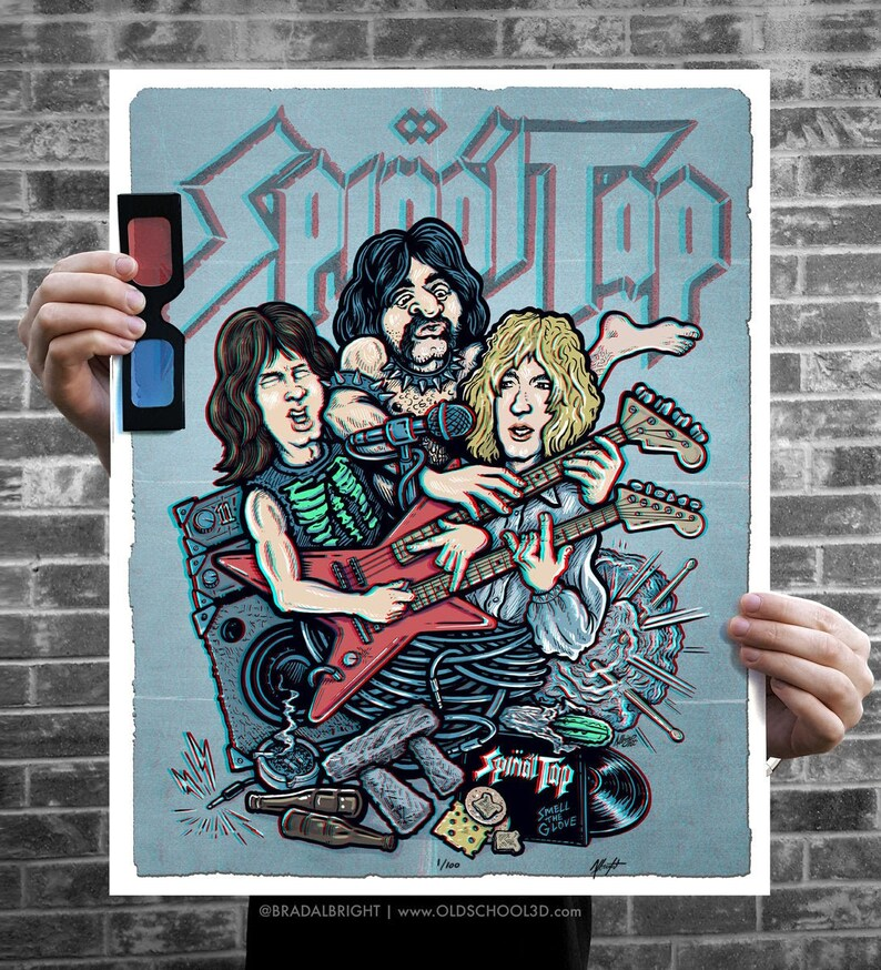This One Goes To 11  Spinal Tap Inspired 3D Poster Art  One image 0