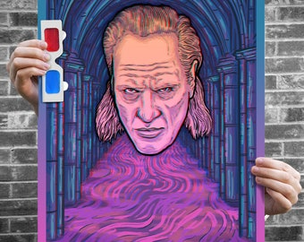He Is Vigo! - 3D Poster - Ltd Edition Ghostbusters II Inspired Poster w/ 3D Glasses - Signed Archival Anaglyph Illustration Print