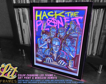 LitFrame - Color changing LED Frame with Remote Control & Art Transparency Insert