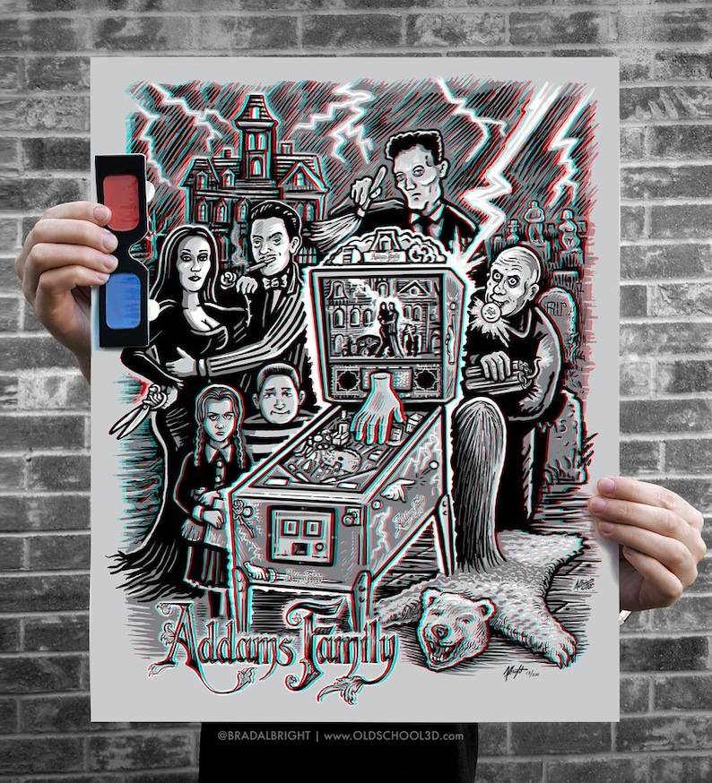 The Pinball Family  3D Poster with Glasses  Ltd Edition  image 0