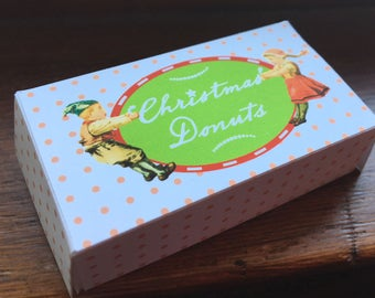 Tiny Elf Donut Box Instant Digital Download Adorable Etsy