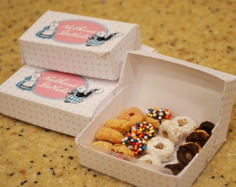 Doughnut Box 150 Single Donut Favor Boxes Midnight Snack -funny favor Wedding Favor custom labels