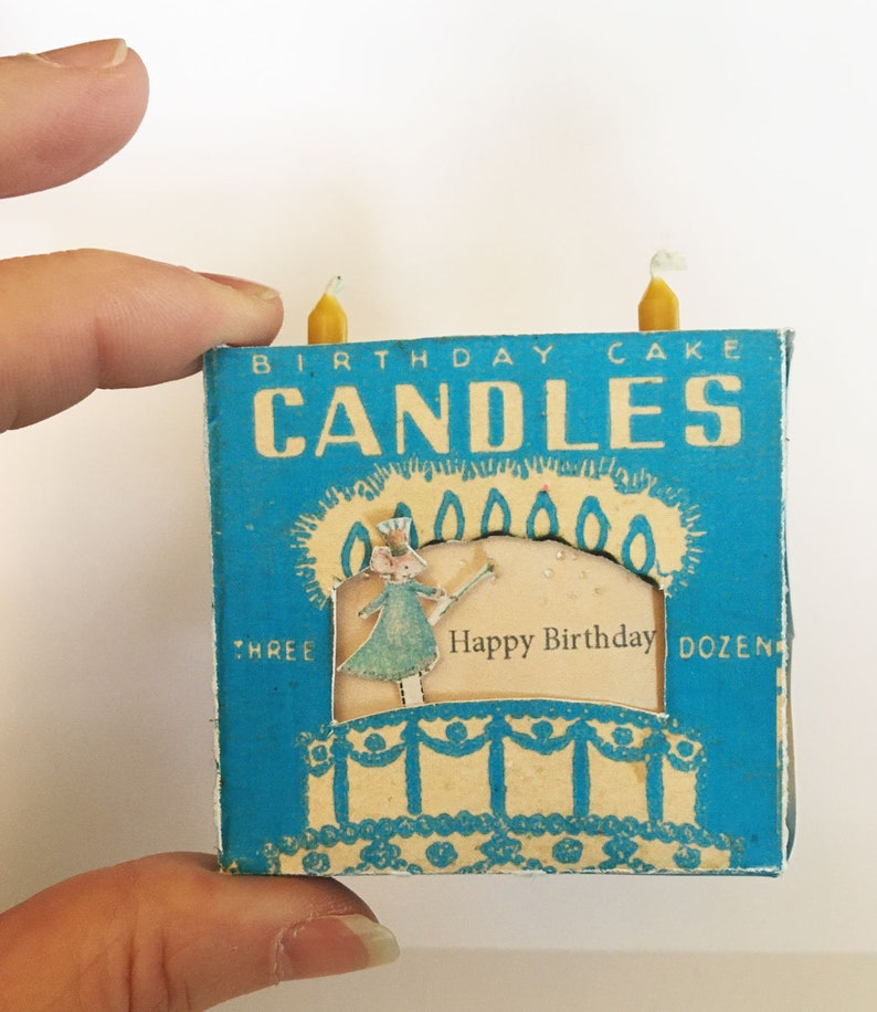 Printable Vintage Birthday Candle Box Theater Instant Digital image 0