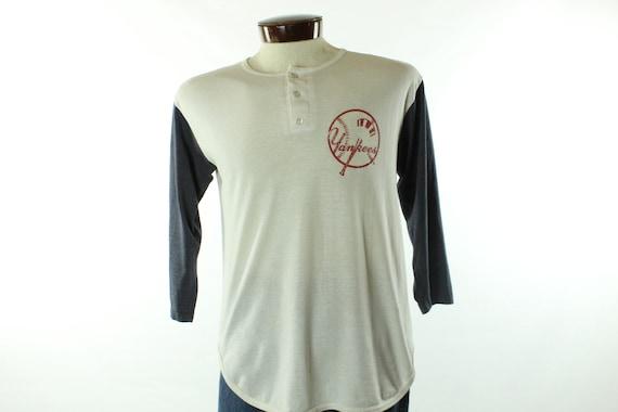 80's Champion T-Shirt Yankees Jersey Vintage 1980'