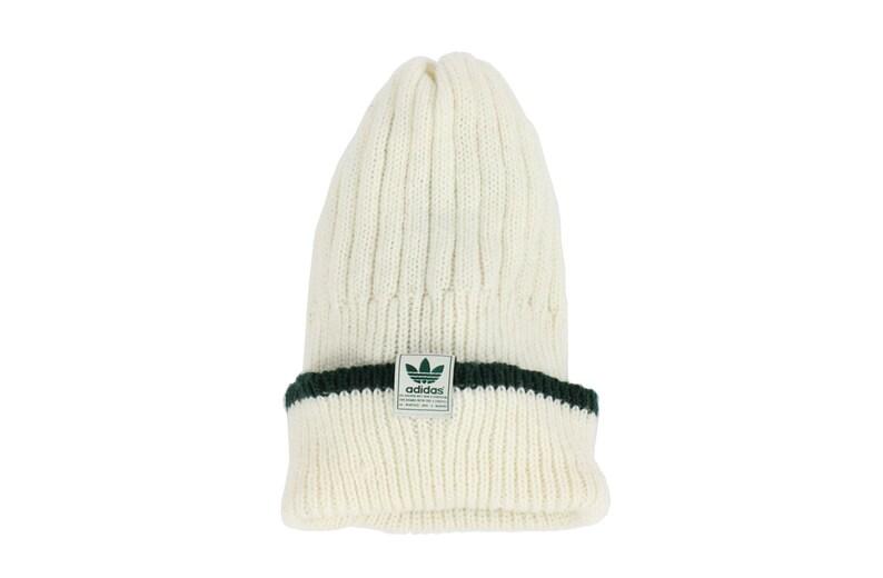 5722cde2 Vintage 90s ADIDAS Knit Ski Hat Beenie Skull Cap Ivory Green | Etsy