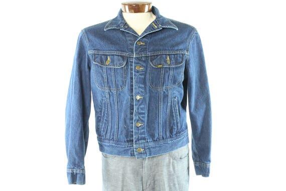 VTG Lee JEAN JACKET Blue Denim Trucker Chore Barn Coat Made
