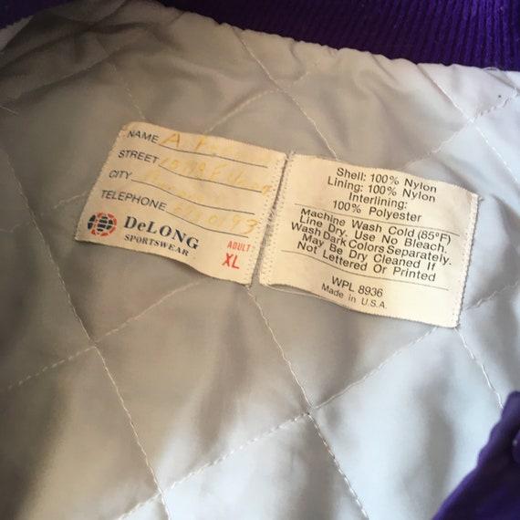 Purple Coach Jacket 70s 80s VTG - image 4