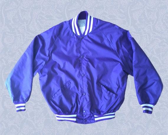 Purple Coach Jacket 70s 80s VTG - image 1