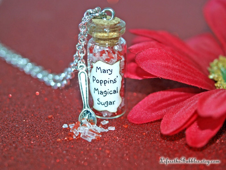 Hercules Zero to Hero Magic glass Bottle Necklace with a Pegasus Charm necklace