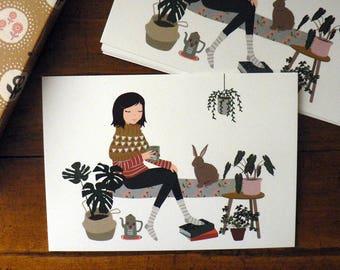 House Rabbit postcard