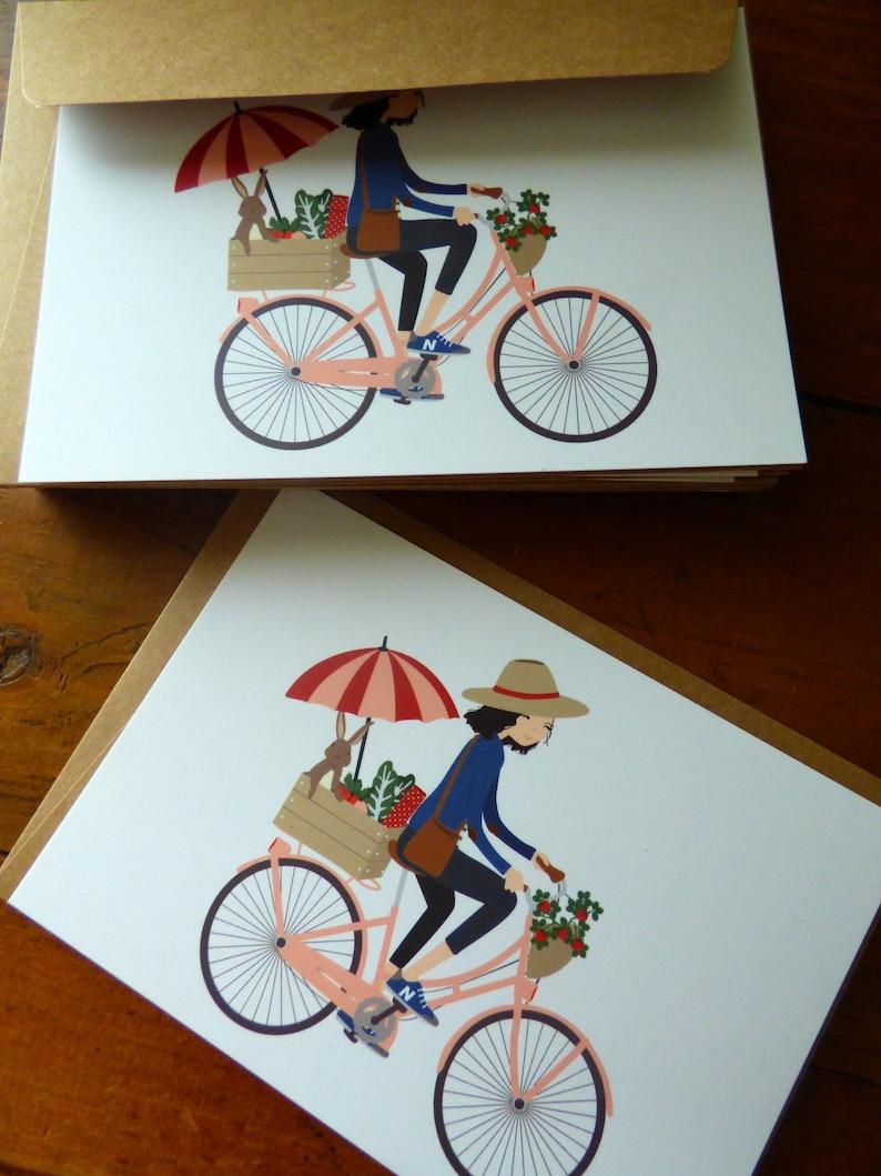 House Rabbit postcard. On a bike with my bunny image 0