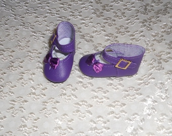READ DESC. Doll Shoes 47mm DARK PURPLE Sandals for Kish Bitty Bethany