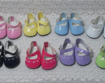 47mm LIGHT GREEN T-Strap Doll Shoes for Kish Bitty Bethany