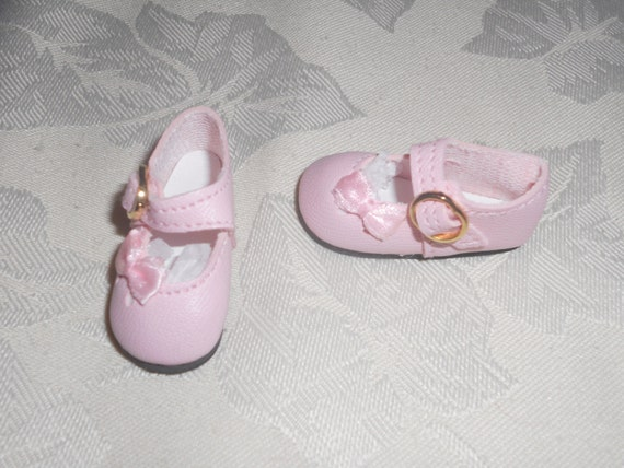 Doll Shoes 47mm DARK PINK Heart Cut for Bitty Bethany