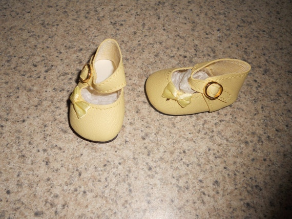 Doll Shoes 47mm WHITE Heart Cut for Bitty Bethany