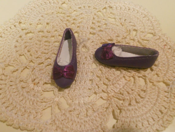DOLL Shoes Light Purple 44mm Flats for Ellowyne Patience