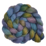 Hand dyed wool roving - Teeswater combed top spinning fiber - 3.8 ounces - Bluestone