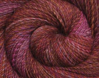 Handspun yarn - Hand dyed Alpaca / Merino wool, DK weight - 350 yards - Mending Heart