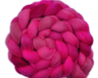 Hand Dyed roving - Gotland wool spinning fiber - 4.2 ounces - Secret Passion 2